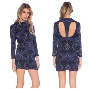 Free People | Midnight Bodycon Print mini Dress